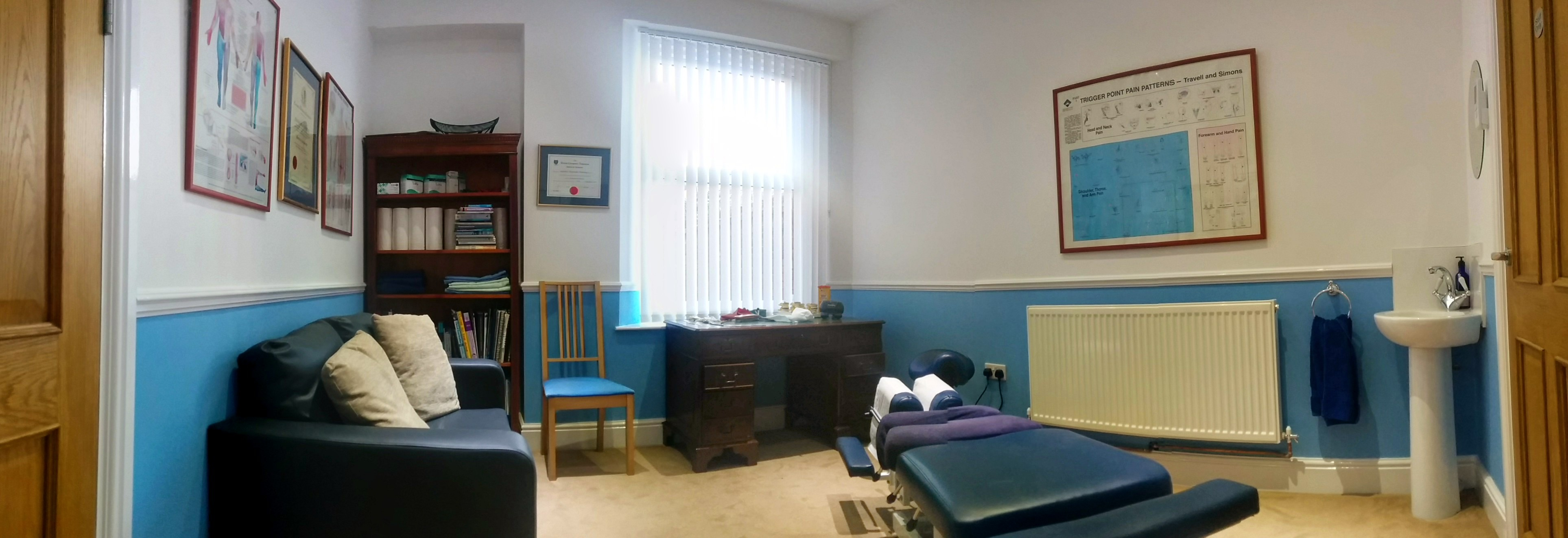 panoramic inside clinic of osteopath taunton